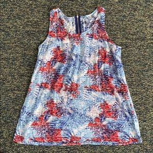 Relativity Red White Blue Fireworks Tank Top o 1X